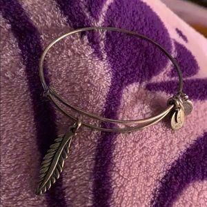 Alex and Ani Feather Charm Bracelet